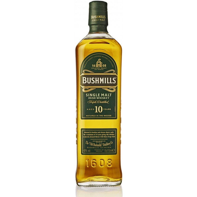 Bushmills 10 Year Old Irish Malt Whisky (70cl, 40%)